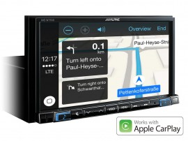 "Alpine INE-W710D 7"" Touch Screen Navigation with TomTom maps, compatible with Apple CarPlay and Android Auto"