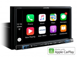 "Alpine iLX-702D 7"" Digital Media Station, featuring Apple CarPlay and Android Auto compatibility"